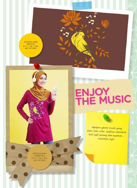 Enjoy the Music Brown & Magenta IDR 137rb