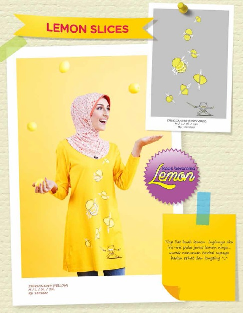 Lemon Slices Yellow & Grey IDR 139rb