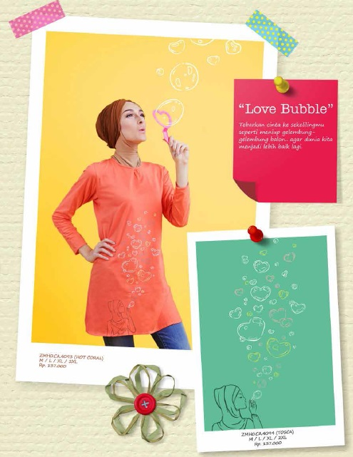Love Bubble Hot Coral & Tosca IDR 137rb