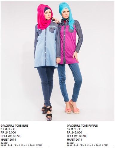 Gracefull Tone Blue & Purple S,M,L,XL IDR 249rb